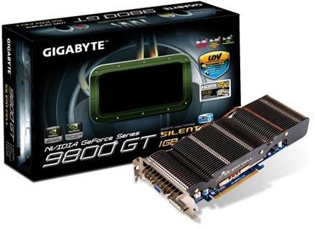 GeForce 9800GT с пассивным охлаждением от Gigabyte