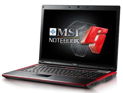 Представлен игровой ноутбук MSI GX723 на базе Geforce GT 130M