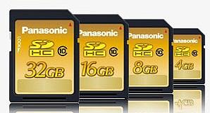Карты памяти SDHC Class 10 от Panasonic
