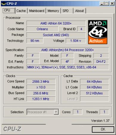 Полуразгон - AMD Athlon 64 3200+ Socket AM2