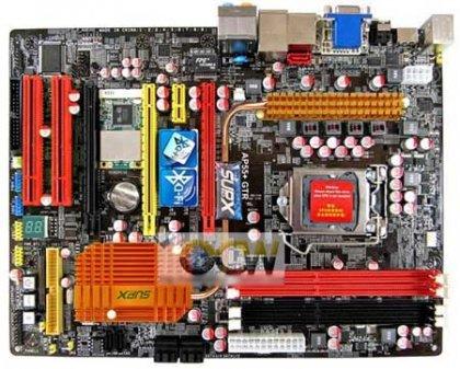 Системная плата SUPoX AP55+GTR P55 рассчитана на процессоры Intel Core i5