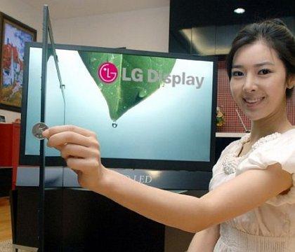 У компании LG самые тонкие ЖК-панели