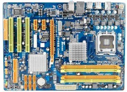 Системная плата BIOSTAR TP45E Combo поддерживает память двух типов