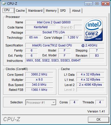 Разгон процессора Q6600 со степпингом B3