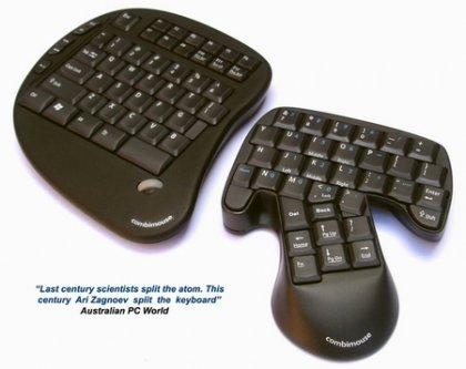 Концепт Combimouse - мышь объединяется с клавиатурой