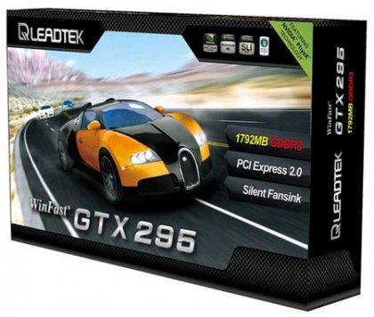 Leadtek представила «чуть-чуть разогнанный» вариант 3D-карты GeForce GTX 295