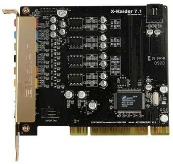 Auzentech Auzen X-Raider 7.1 и X-Studio 5.1 - недорогие качественные звуковые карты!