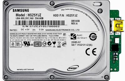 Samsung уместил 250 Гб в компактном корпусе 1,8 дюйма