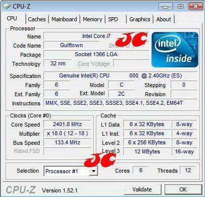 Первая информация процессора Core i9 (Gulftown)
