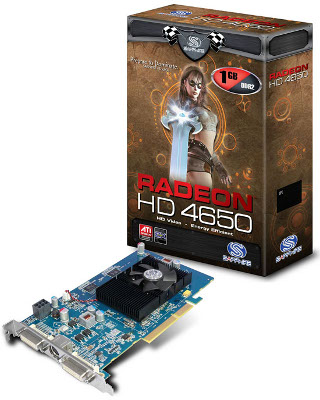 Sapphire Radeon HD 4650 с интерфейсом AGP