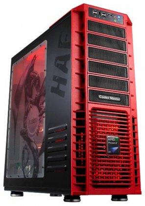 Красный стильный корпус - HAF 932 AMD Edition