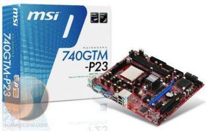 Бюджетная материнская плата 740GTM-P23 от MSI