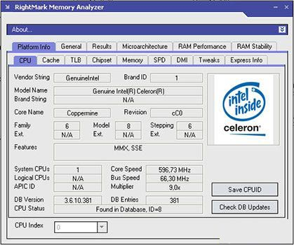 RightMark Memory Analyzer 3.8