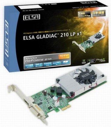 Видеокарта Gladiac 210 LP x1 от ELSA