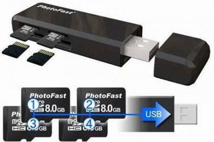 PhotoFast CR-5500 - адаптер для microSD