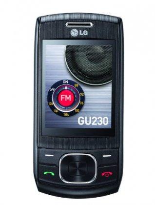 LG GU230 - слайдер в черном