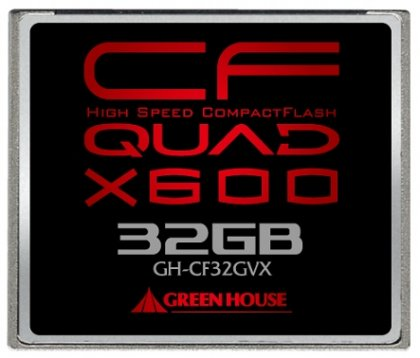 Высокоскоростные карты CompactFlash - GH-CF8GVX, GH-CF16GVX и GH-CF32VX