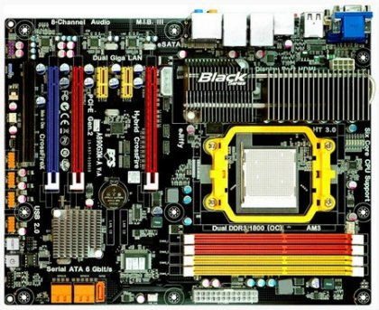 Системная платы ECS A890GXM-A - на базе чипсета AMD RS890
