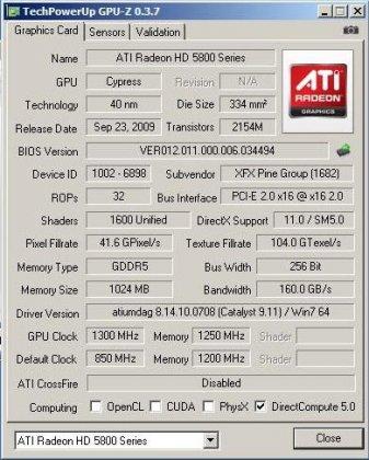 ATI Radeon HD 5870 разогнан до 1300 МГц
