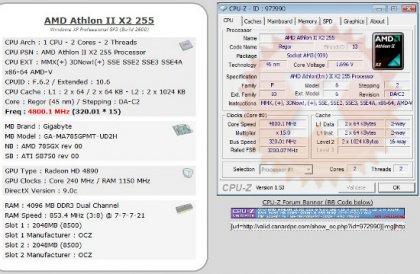 Разгон процессора Athlon II X2 255 до 4.8 ГГгц