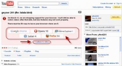 Youtube - отказывается от браузера Internet Explorer 6