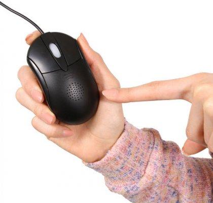 Мышь Thanko Speaker Mouse - с динамиком и микрофоном