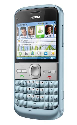 Nokia E5 – смартфон для бизнесменов