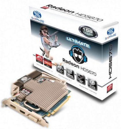 Бесшумные Radeon HD 5670 Ultimate Edition