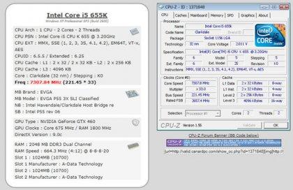 Процессор Intel Core i5 655K разогнан до 7,3 ГГц