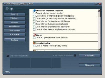 Программа History Sweeper - очистка ненужных файлов