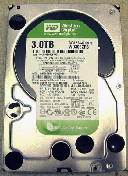 Жесткий диск объёмом 3 Тб от WD и Seagate