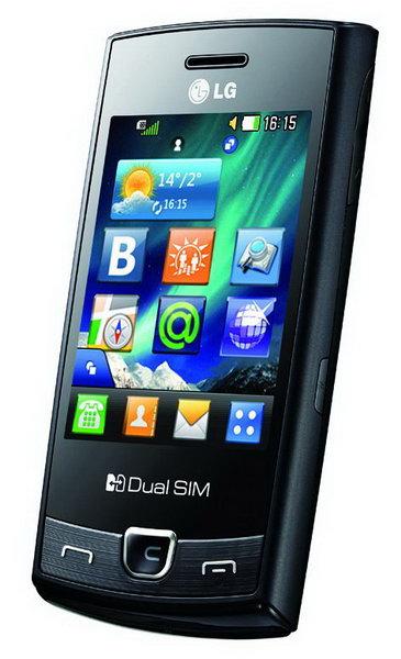 Сенсорный телефона LG P520 с Dual SIM