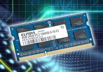 Память 4GB DDR3 SO-DIMM изготовленная по 30нм