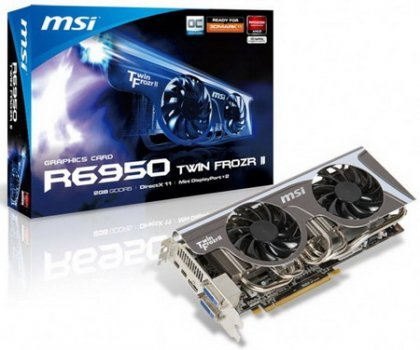 MSI R6950 Twin Frozr II – видеокарта с особым дизайном