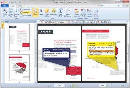 Программа Nitro PDF Reader 1.4 распознает ссылки