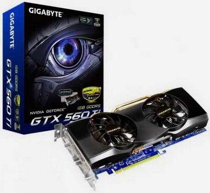 Новые альтернативные видеокарты модели GeForce GTX 560 Ti