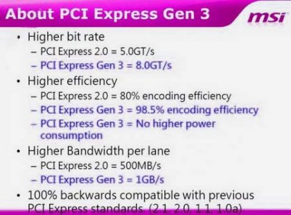 Материнки MSI с поддержкой PCI-Express 3.0