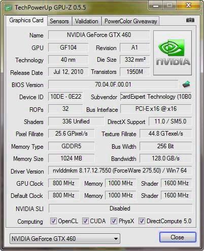 Утилита GPU-Z обновилась до версии 0.5.5