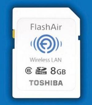 Toshiba FlashAir карта памяти на 8 Гб c поддержкой Wi-Fi