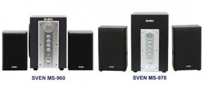 Стильные колонки SVEN MS-960 и MS-970 формата 2.1