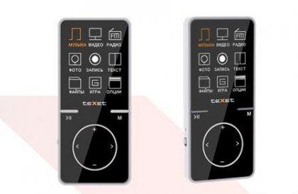 Тонкий MP3 плеер от teXet
