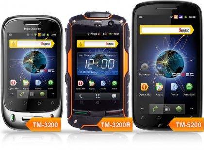 Смартфоны teXet на Android