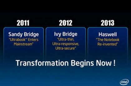 Intel Haswell выйдут во втором квартале 2013 года