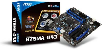 MSI B75MA-G43 – системная плата с поддержкой Socket 1155