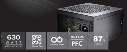 630-Вт блок питания Antec VP630F стандарта ATX12V v2.32