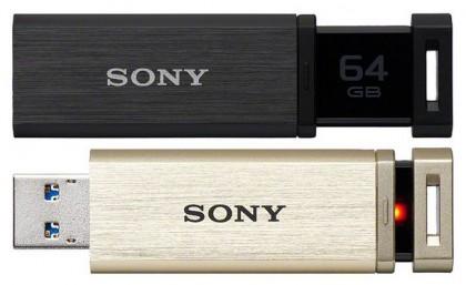 Sony USM-QX – алюминиевая USB-флешка с выдвижным разъемом